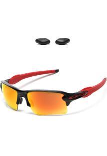 Óculos De Sol Oakley Flak 2.0 Xl Prizm Preto/Vermelho