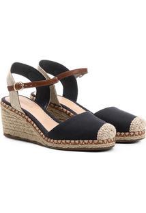 Espadrille Shoestock Anabela Lona Feminina
