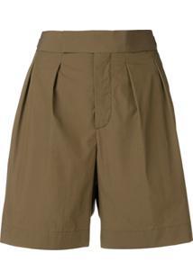 Neil Barrett Short Cintura Alta - Verde
