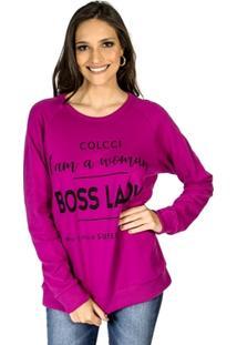 6da81da8c Blusão Moletom Boss Lady Colcci Feminino - Feminino