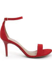 Sandália Feminino Milano Suede Scarlet 9700
