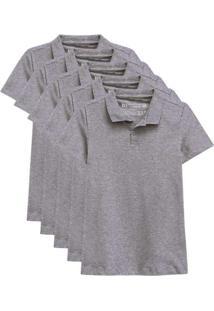Kit De 5 Camisas Polo Femininas Vermelho