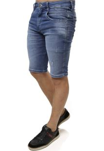 Bermuda Jeans Cook'S Moletom Masculina - Masculino
