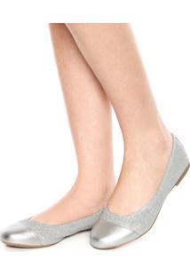 Sapatilha Dafiti Shoes Lurex Prata