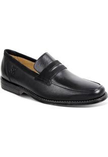 Sapato Em Couro Monte Carlo 17602 - Masculino-Preto