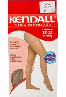 Meia Calça Kendall Feminina Média Compressão (18-21Mmhg) Ponteira Fechada Tamanho P Cor Mel