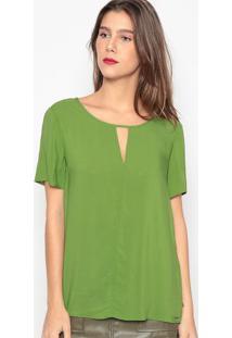 Blusa Com Vazado- Verde- Colccicolcci