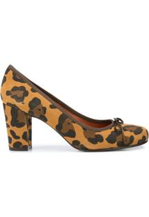 Penelope Chilvers Scarpin Margot Com Estampa De Leopardo - Marrom