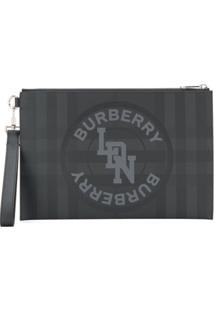 Burberry Clutch Ldn Xadrez - Preto
