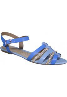 Sandália Ramarim - Feminino-Azul