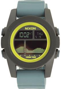 e255eb20954 Ir para a loja  Relógio Nixon 99007.A282 Unit Tide Preto Cinza