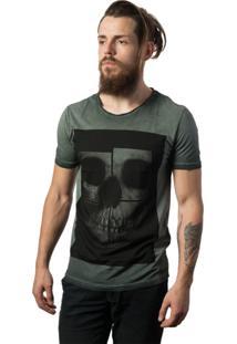 Camiseta Skull Lab Caveira Verde
