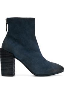 Marsèll Ankle Boot De Camurça Com Zíper - Azul
