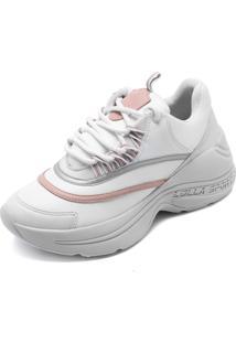 941bcbcb5ae9a ... Tênis Dad Sneaker Chunky Santa Lolla New Mestiço Branco Rosa