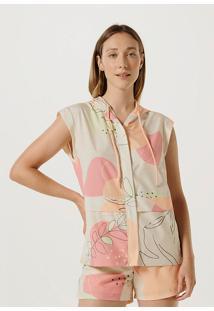 Jaqueta Feminina Tecido Estampado