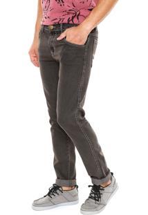 Calça Jeans Fiveblu Slim Liverpool Marrom