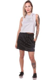 Camiseta Starter Cropped Feminina - Feminino-Mescla