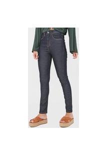 Calça Jeans Oh, Boy! Skinny Pespontos Azul-Marinho