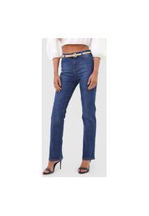 Calça Jeans Hering Reta Estonada Azul
