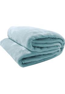 Cobertor Velour Neo Queen Size- Verde Claro- 220X240Camesa