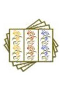 Jogo Americano - Florais Cores Com 4 Peças - 128Jo