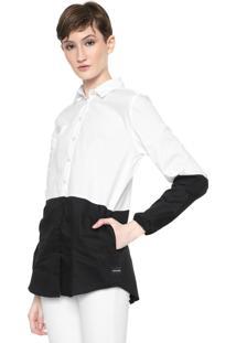 Camisa Calvin Klein Jeans Bicolor Branca/Preta