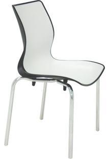 Cadeira Maja- Branca & Preta- 86X49,5X49Cm- Tramtramontina