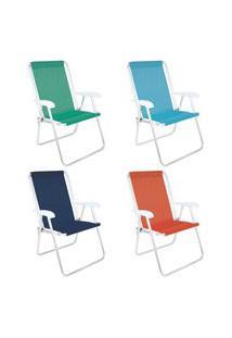 Cadeira Alta Conforto Alumínio Sannet Sortido