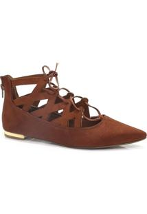 Sapatilha Zariff Shoes Vazada Lace Up