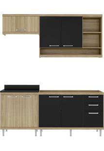 Cozinha Compacta Quilmes 7 Pt 3 Gv Argila E Preto