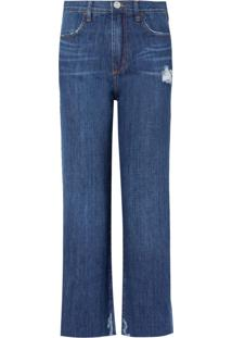 Calça Bobô Ingrid Jeans Azul Feminina (Jeans Escuro, 40)