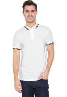 Camisa Polo Colcci Reta Listrada Off-White