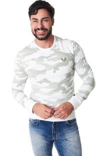 Blusa Moletom Convicto Camuflada Branco