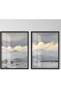 Quadro 65X90Cm Andes Moldura Preta Sem Vidro Decorativo Interiores