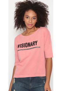 """Blusa """"Visionary""""- Rosa - Dzarmhering"""