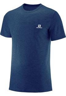Camiseta Salomon Cotton Ss Masculino G Azul
