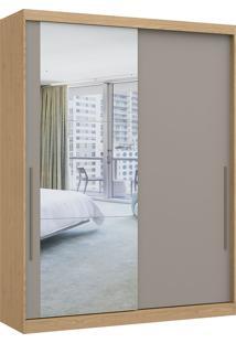 Módulo Com 2 Portas De Correr C/ Espelho E 2 Gavetas Elegance 4222A- Móveis Castro - Angelin / Nacar