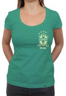 Silva (Brasão Amarelo) - Camiseta Clássica Feminina