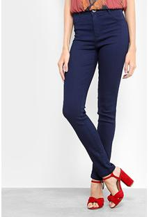 Calça Jeans Skinny Morena Rosa Base Isabelli Cintura Alta Feminina - Feminino