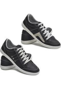 Kit 2 Pares Sapatênis Dec Shoes Tênis Casual Masculino - Masculino-Cinza+Preto