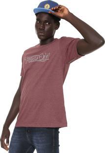 Camiseta Volcom Straight Up Vinho