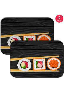 Jogo Americano Love Decor Sushi Preto
