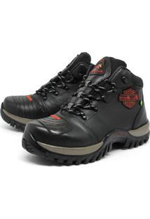 Bota Bell-Boots Adventure/Motoqueiro 2027 - Preto/Vermelho