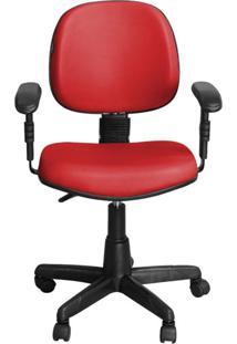 Cadeira Pethiflex Ce-01Bpbt Giratória Couro Vermelho