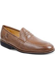 Sapato Em Couro Veneza 220220 - Masculino-Marrom