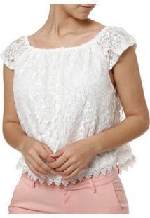 Blusa Manga Curta Feminina Branco