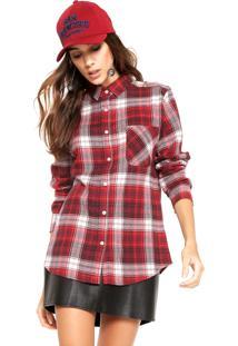 Camisa Fiveblu Xadrez Vermelho