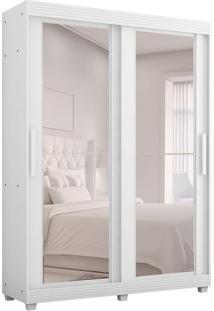 Guarda-Roupa Casal Com Espelho Assis 2 Pt 3 Gv Branco
