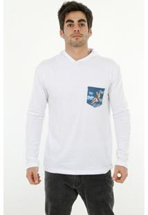 Camiseta Romeo Store Pin Up Pocket Com Capuz - Masculino