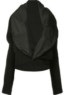 Masnada Oversized Lapel Jacket - Preto